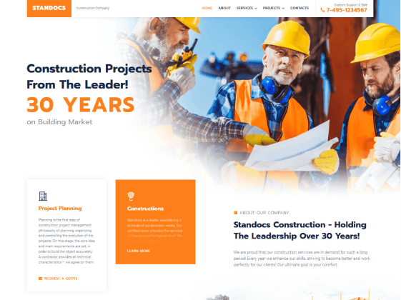 Construction Business Demo Website
