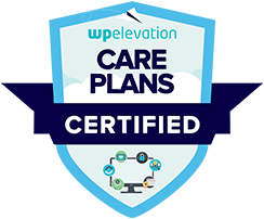 Robert Monroe Turner's WP Elevation Care Plans Certification Badge